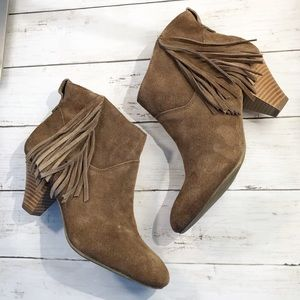 American Eagle Outfitters •Brown Suede Ankle Boots